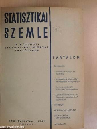 Statisztikai Szemle 1954. január-december