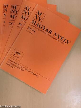 Magyar Nyelv 2000/1-4.