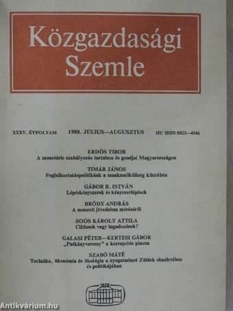 Közgazdasági Szemle 1988. július-december (fél évfolyam)