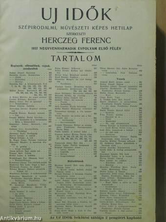 Uj Idők 1937. január-június (fél évfolyam)