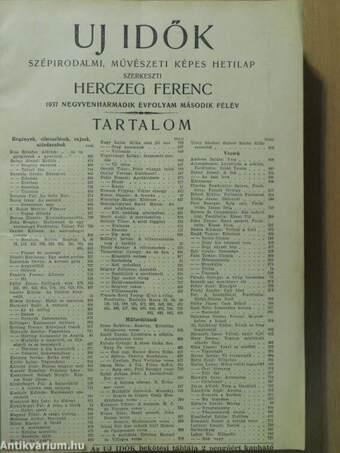 Uj Idők 1937. július-december (fél évfolyam)