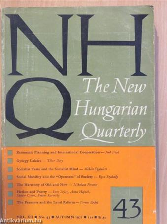 The New Hungarian Quarterly Autumn 1971.