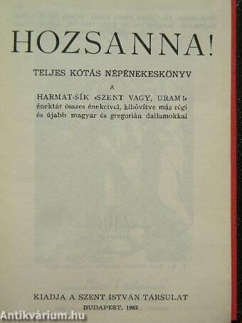 Hozsanna!