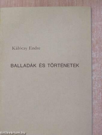 Balladák és történetek (dedikált példány)