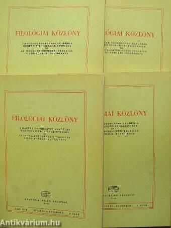 Filológiai Közlöny 1976. január-december