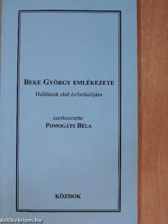 Beke György emlékezete