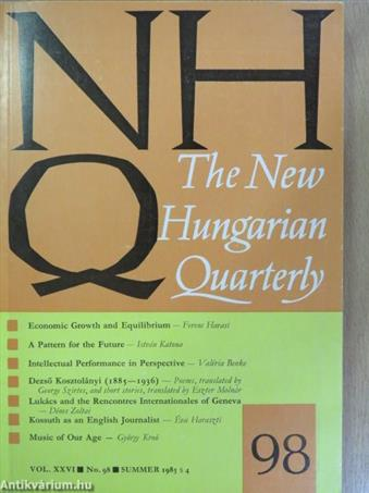 The New Hungarian Quarterly Summer 1985.