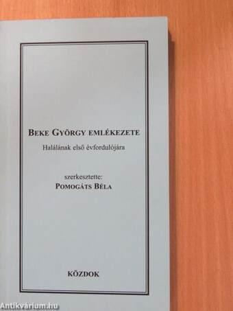 Beke György emlékezete (dedikált példány)
