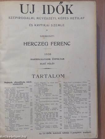 Uj Idők 1930. (nem teljes évfolyam)