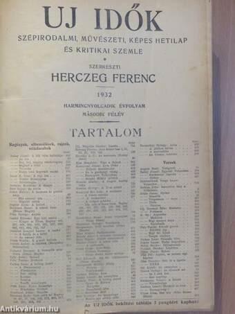 Uj Idők 1932. július-december (fél évfolyam)/1928., 1930-1931. (vegyes számok) (3 db)