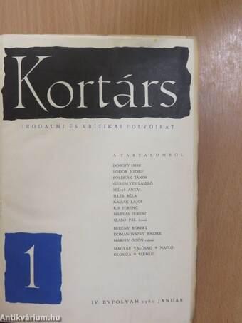 Kortárs 1960. január-június (fél évfolyam)