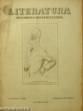 Literatura 1926. április