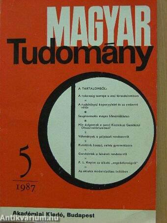 Magyar Tudomány 1987. május