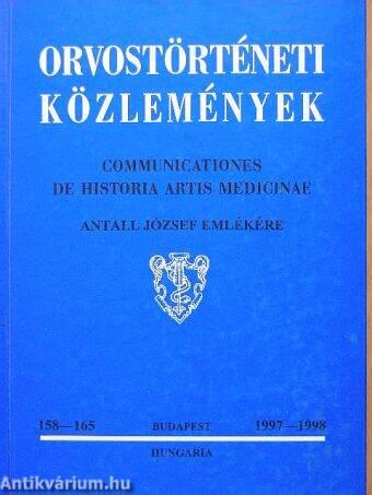 Orvostörténeti közlemények 158-165.