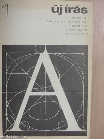 Új Írás 1970. január-június (fél évfolyam)