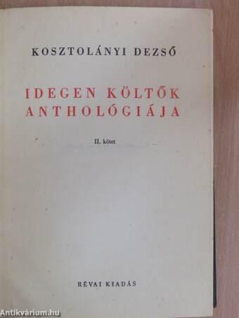 Idegen költők anthológiája II. (töredék)