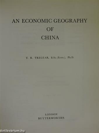 An Economic Geography of China