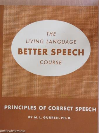 Principles of Correct Speech