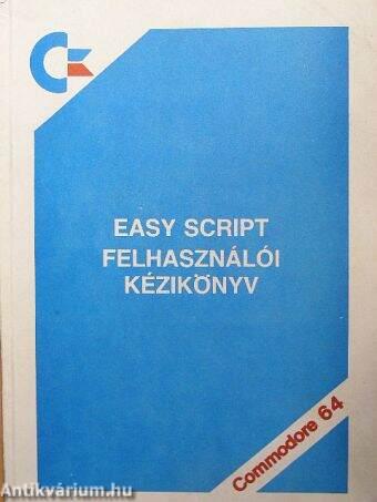 Easy script felhasználói kézikönyv