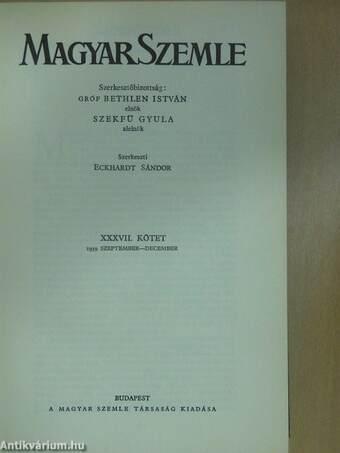 Magyar Szemle 1939. szeptember-december