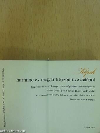 Képek 30 év magyar képzőművészetéből (minikönyv)