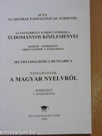 Az Eszterházy Károly Főiskola Tudományos Közleményei