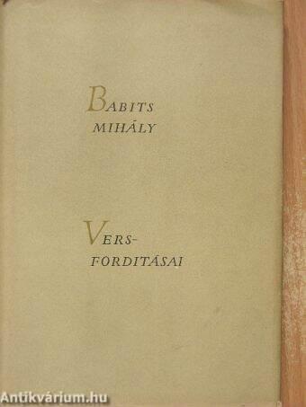 Babits Mihály versfordításai