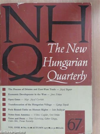 The New Hungarian Quarterly Autumn 1977.