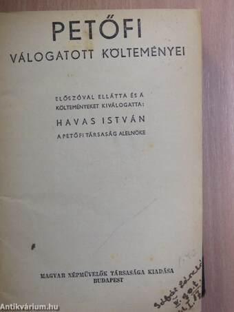 Petőfi válogatott költeményei/Rontó Pál/A falu jegyzője/Szavalókönyv/Felvidéki elbeszélők válogatott munkái