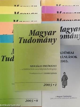 Magyar Tudomány 2003. (nem teljes évfolyam)