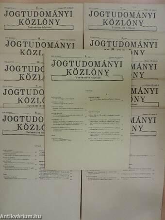 Jogtudományi Közlöny 1987. (nem teljes évfolyam)