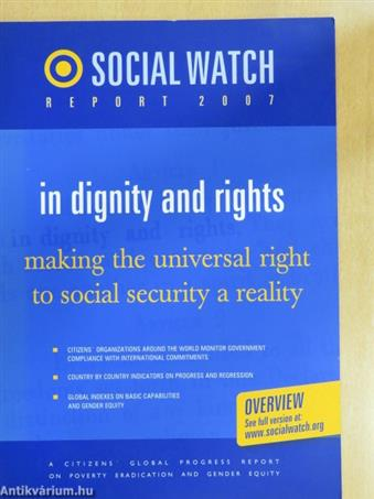 Social Watch Report 2007 - In dignity and rights - Overview