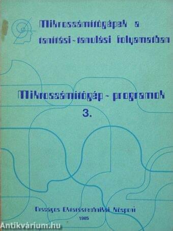 Mikroszámítógép-programok 3.