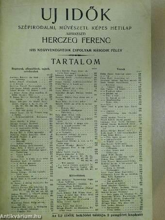 Uj Idők 1935. (nem teljes évfolyam)