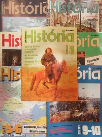 História 2001. (nem teljes évfolyam)