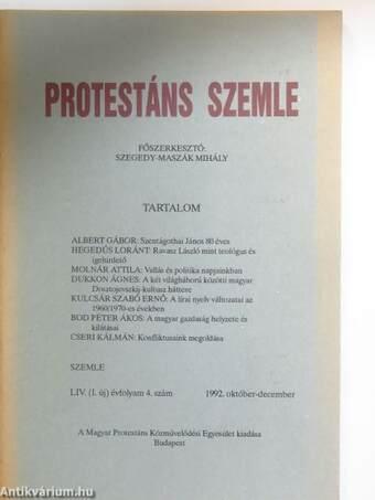 Protestáns Szemle 1992. október-december