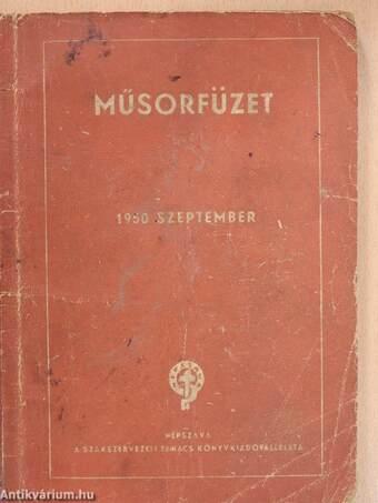 Műsorfüzet 1950. szeptember