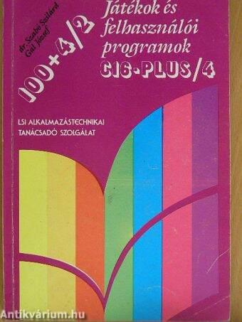 100+4/2 - Játékok és felhasználói programok C16-plus/4
