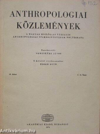 Gyenis Gyula  Anthropologiai közlemények 18. kötet 1-2. füzet ... 75154f9095