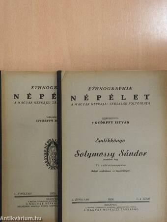 Ethnographia - Népélet 1939/1-4.