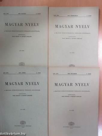 Magyar Nyelv 1969/1-4.