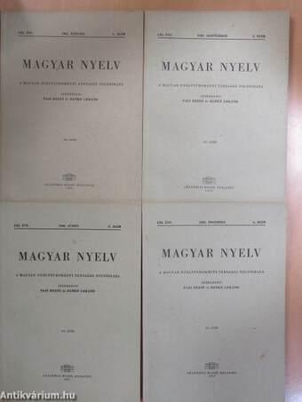 Magyar Nyelv 1965/1-4.