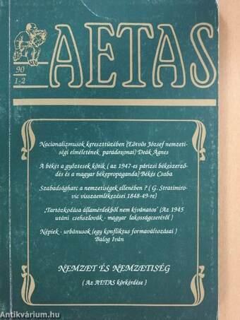 Aetas 1990/1-2. (dedikált példány)