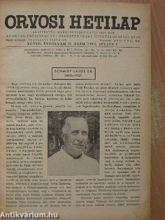 Orvosi Hetilap 1957. (nem teljes évfolyam)