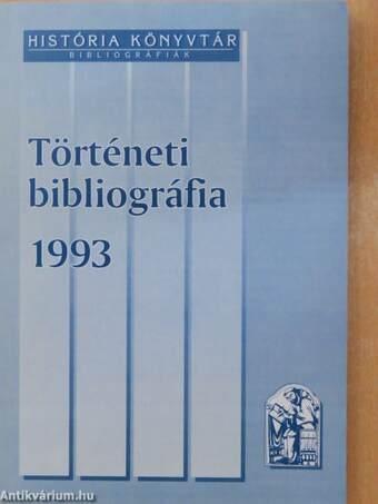 Történeti bibliográfia 1993