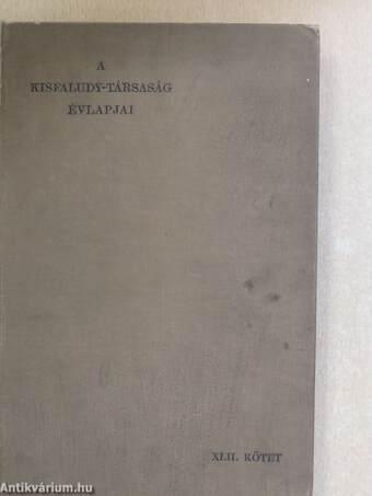 A Kisfaludy-Társaság évlapjai 1907-1908.