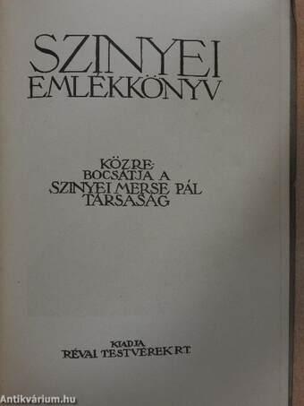Szinyei emlékkönyv