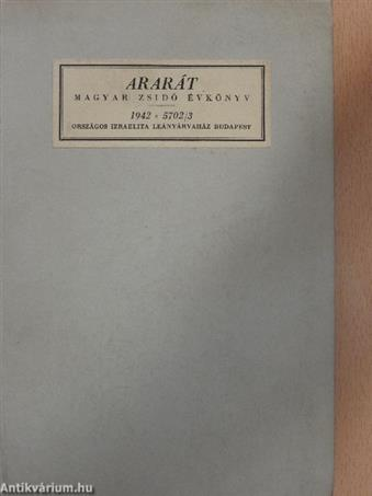 Ararát - Magyar zsidó évkönyv az 1942. évre