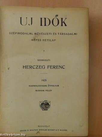 Uj Idők 1925. julius-december (fél évfolyam)
