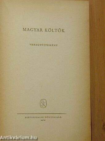 Magyar költők I. (töredék)